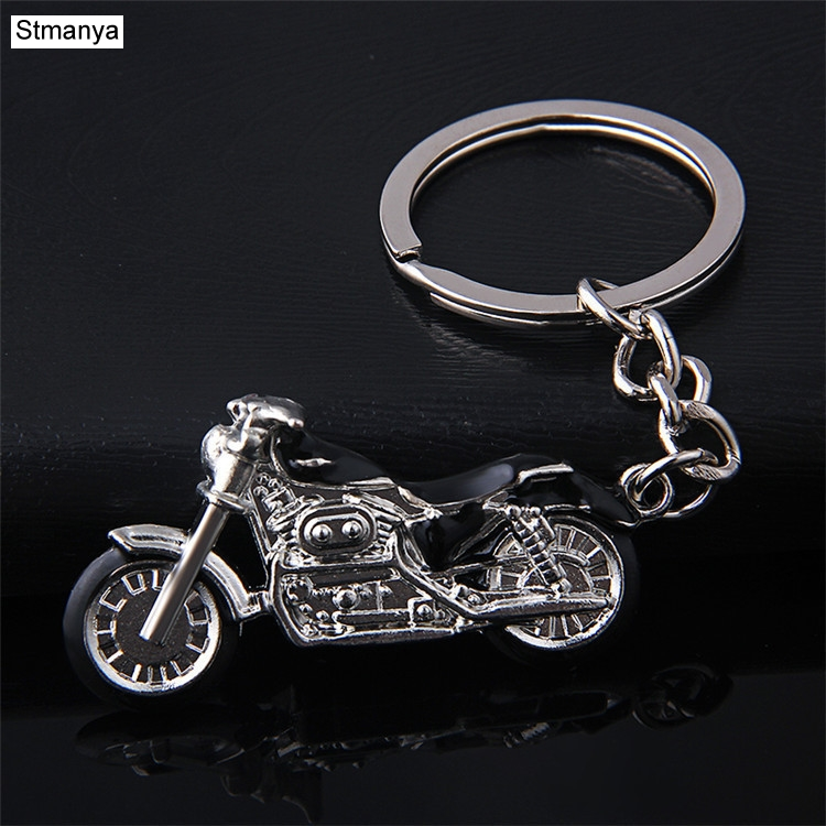 New Mountain Motorcycle Key Chain Creative Model Car Key Ring Key Holder Charm Accessories 3D Crafts Gift Keychain