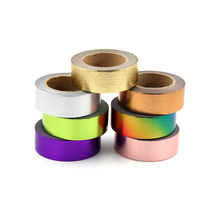 1X Gold Foil Washi Tape Japanese Paper 1.5*10meter Kawaii Scrapbooking Tools Solid Colors Masking Adhesiva Decorativa