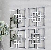Зеркальный декор для стены Декор площадь фацетированное зеркало Настенная картина в рамке D-F1309