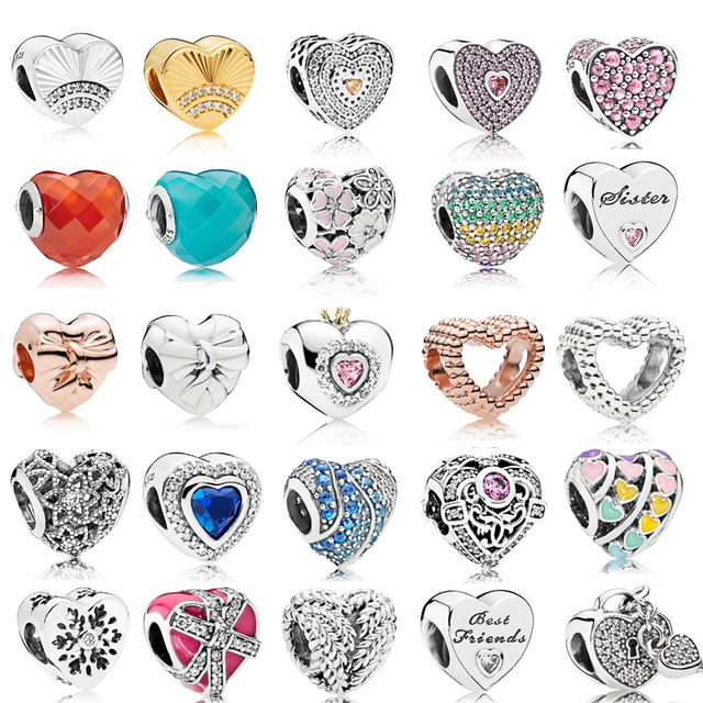 New Arrival 925 Sterling Silver Multi Style My Heart Charms Fit Pandora silver 925 Original Bracelets Jewelry