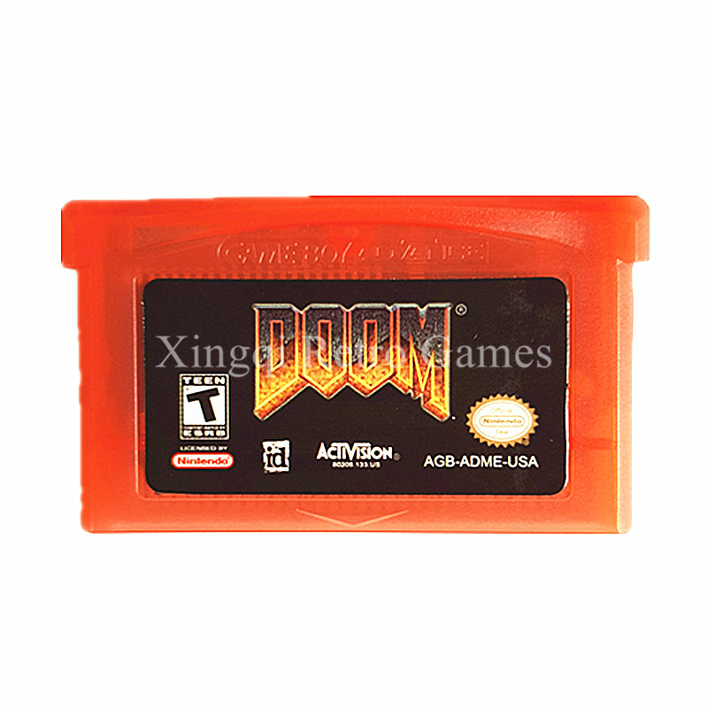 Nintendo GBA Game Doom Video Game Cartridge Console Card US English Language