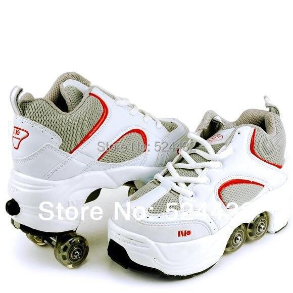 2014 Men Child Women Four Wheels Roller Skates Double Wheels Walkable Skating Leisure Sports Dual Shoes Tap Shoes Runaway Shoes Shoes Fall Shoe Rack Shoesshoe Zebra Aliexpress