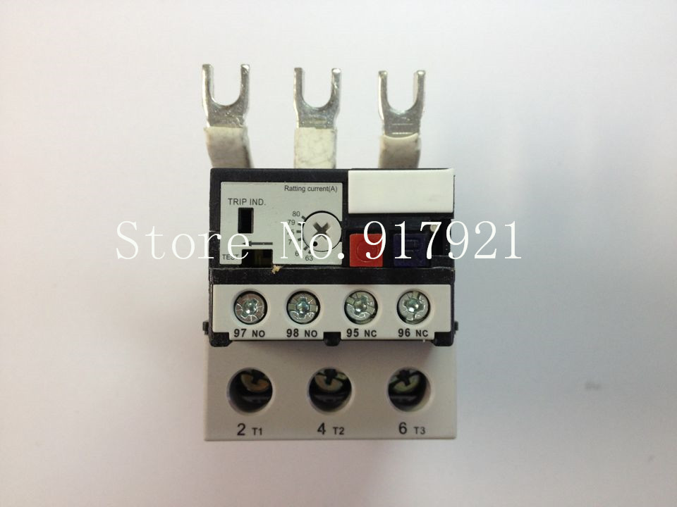 [ZOB] Hagrid imported EWT180D thermal overload relay 65-80A three-phase overload protection  --2pcs/lot thermal overload relay 5 2 8a 7 11a 9 13a th n12kp overload protection