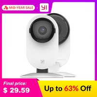 YI 1080p Home Camera Indoor IP Security Surveillance System with Night Vision for Home/Office/Baby/Nanny/Pet Monitor White Surveillance Cameras
