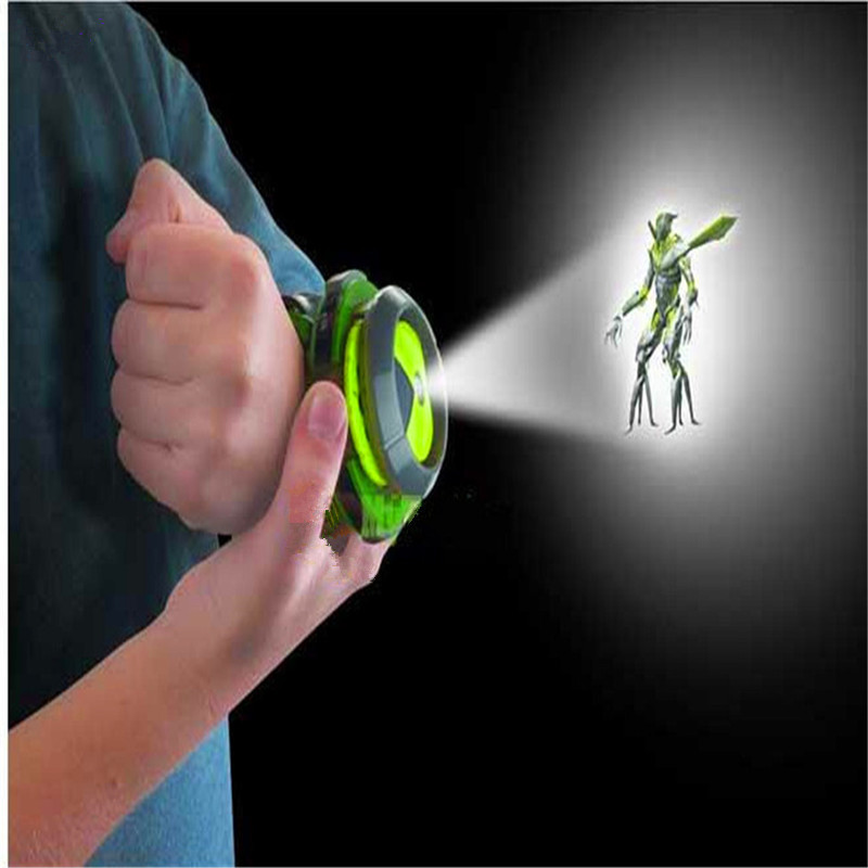 Hot Ben 10 Kids Watch Toys Projector Omnitrix Alien Viewer With White/Yellow/Green Lights Ben 10 Action Figures Dropshipping lis hot selling ben 10 style japan projector watch ban dai genuine toys for kids children slide show watchband