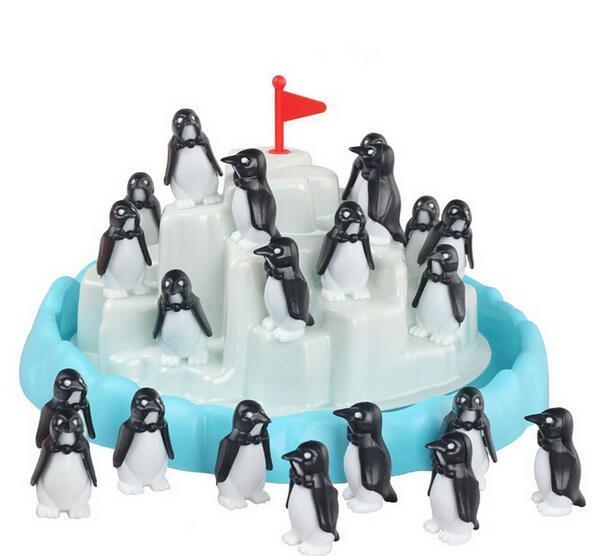 Enlighten Blocks 2016 kids baby stack educational toy game interactive games children penguins Iceberg seal animal toys pile up