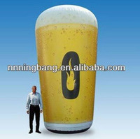 Free shipping 6meter high giant inflatable beer cup for outdoor advertising