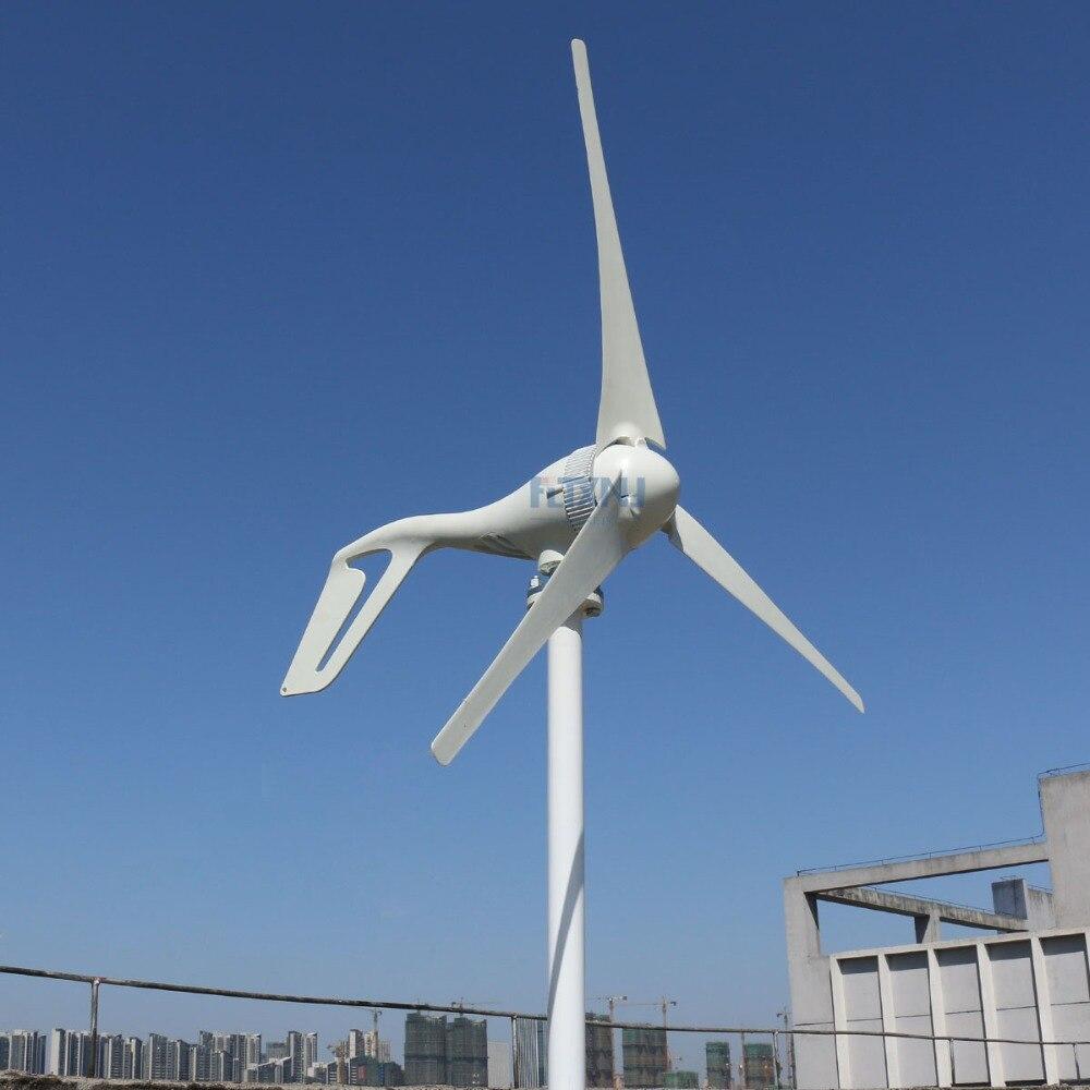Générateur de turbine de vent de 100 w-300 w ac 12 v/24 v micro 50Hz avec le contrôleur de charge de vent