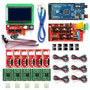 Image 1 - Cnc 3D Printer Kit Voor Arduino Mega 2560 R3 + Ramps 1.4 Controller + Lcd 12864 + 6 Eindschakelaar endstop + 5 A4988 Stepper Driver