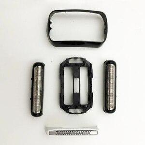 Image 3 - Сменное лезвие для бритвы, аксессуары для личной гигиены, Портативная Домашняя электробритва, ABS, простая установка, фольга, Черная Мужская головка для Braun