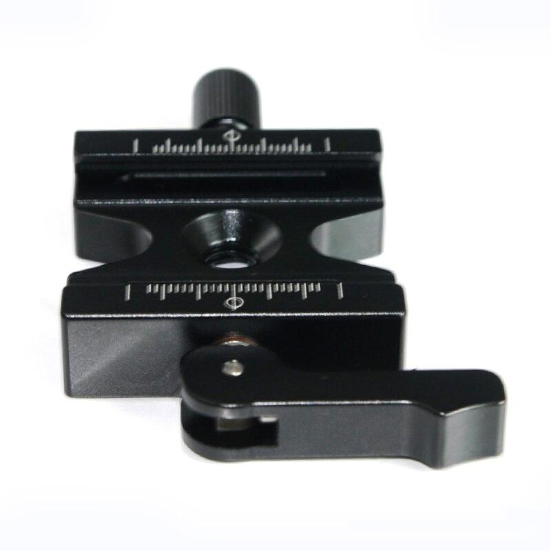 En aluminium Caméra Quick Release Clamp CNC 3/8 ''Vis Réglable Levier & Bouton pour Arca Swiss RRS Wimberley Trépied Boule tête