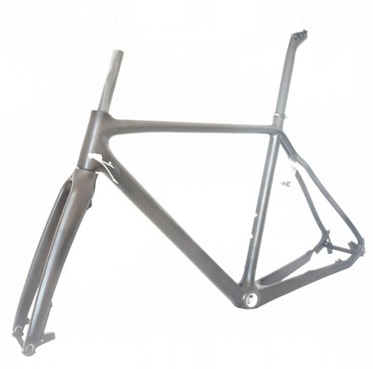 Disc Brake Cyclocross Bike Frame Full Carbon Fiber Cyclocross Frameset 51cm 53cm 55cm 57cm