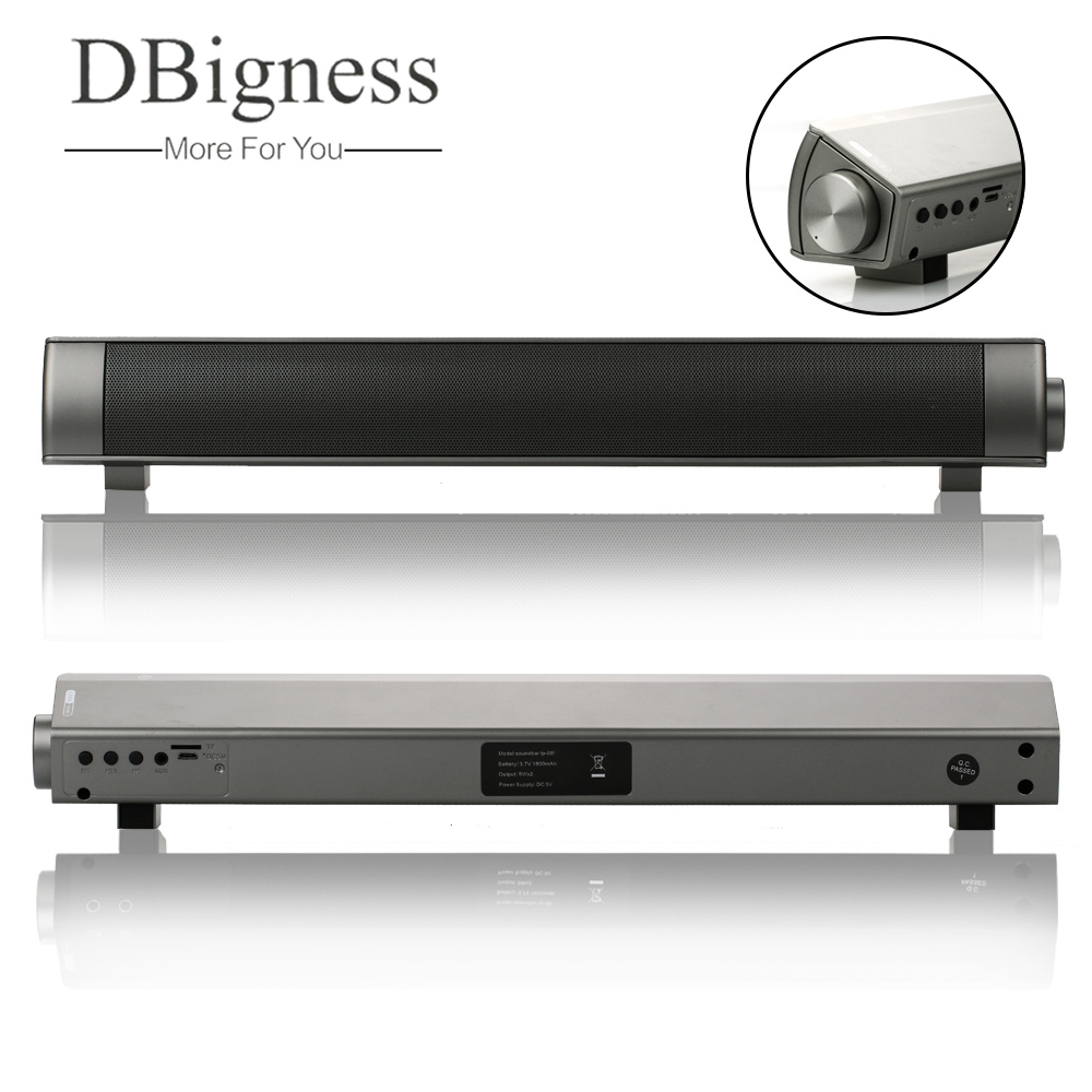 Dbigness Mini Soundbar Bluetooth Speaker Slim Magnetic Stereo Sound Subwoofer Speaker HIFI Speaker for Computer Tablet TV dbigness bluetooth speaker soundbar magnetic stereo sound subwoofer tf card speaker bluetooth boombox for computer tablet tv