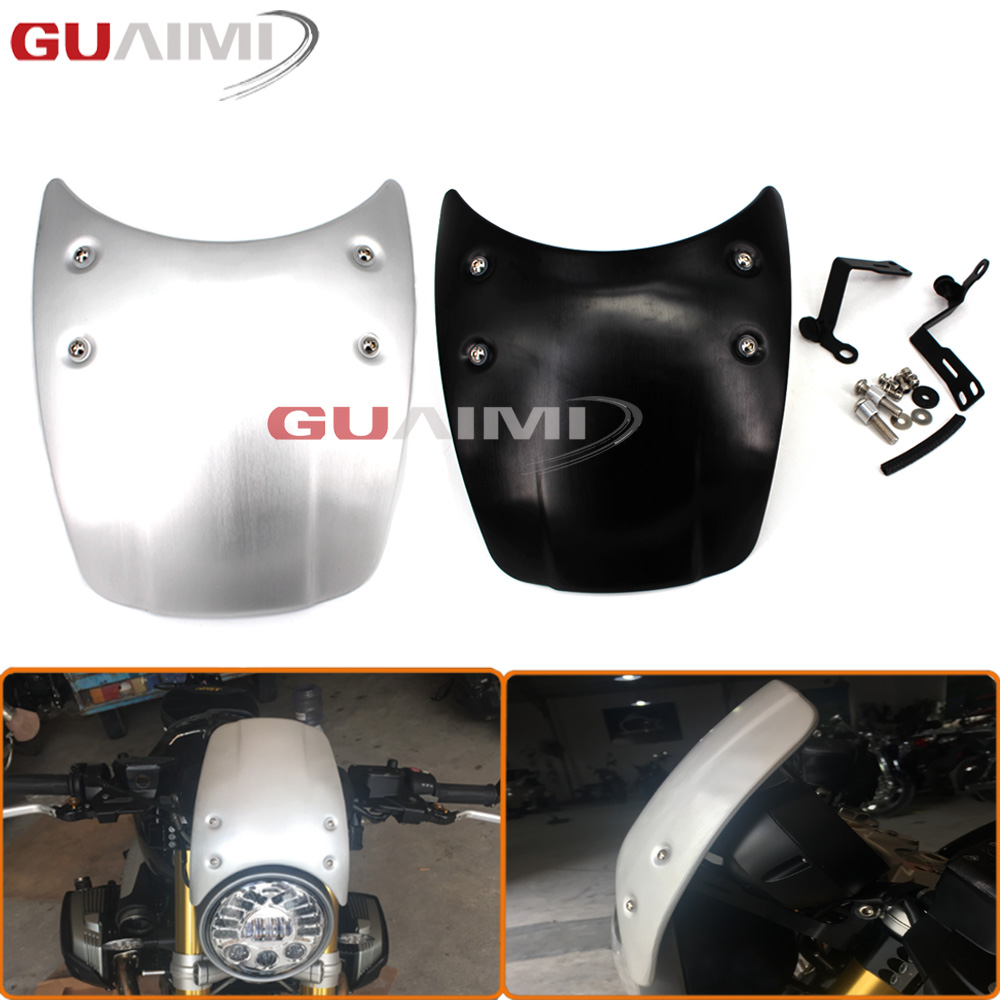 Motorcycle Windshield Windscreen Headlight Fairing For BMW R Nine T 2014 2015 2016 2017 защитное стекло для asus zenfone 2 laser ze500kl ze500kg skinbox