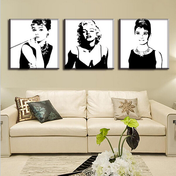 3 Pcs Vintage Poster Portrait Oil Painting Canvas Wall Art Picture ...