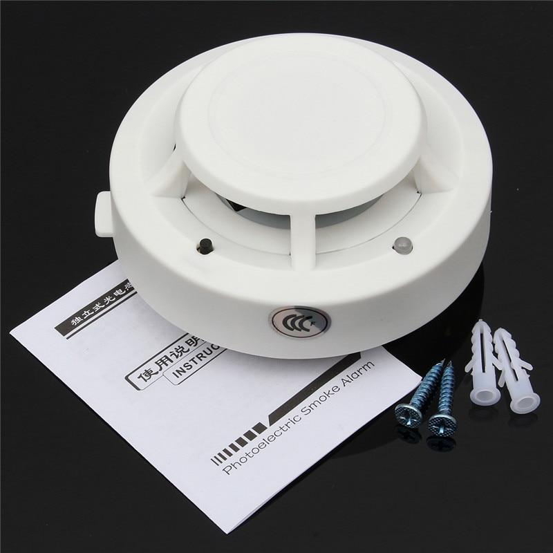 High Sensitive 85DB DC 9V Fire Control Smoke Gas Odor Sensor Induction Alarm Detector Home Safely Security White smoke alarm gas detector audio sound high fidelity sensitive monitor microphone