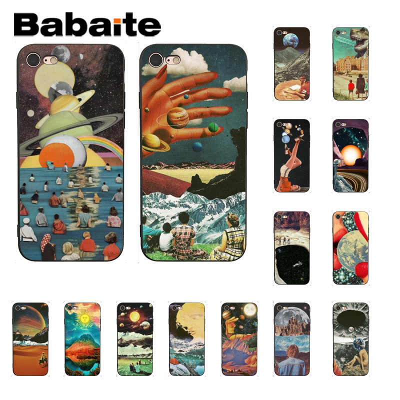 Babaite ヴィンテージサイケデリックアート美的ソフト電話カバー iphone X XS 最大 6 6s 7 7 プラス 8 8 プラス 5 5S 、 SE XR 11 11pro 11promax