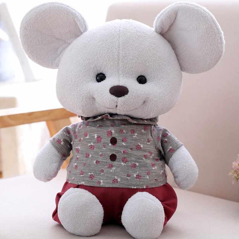 Nowy ładny Design wypchane zwierzęta Kawaii pluszowa zabawka mysz królik lisa zabawka świnka kilka zabawek miękkie lalki dla dzieci prezent na Boże Narodzenie