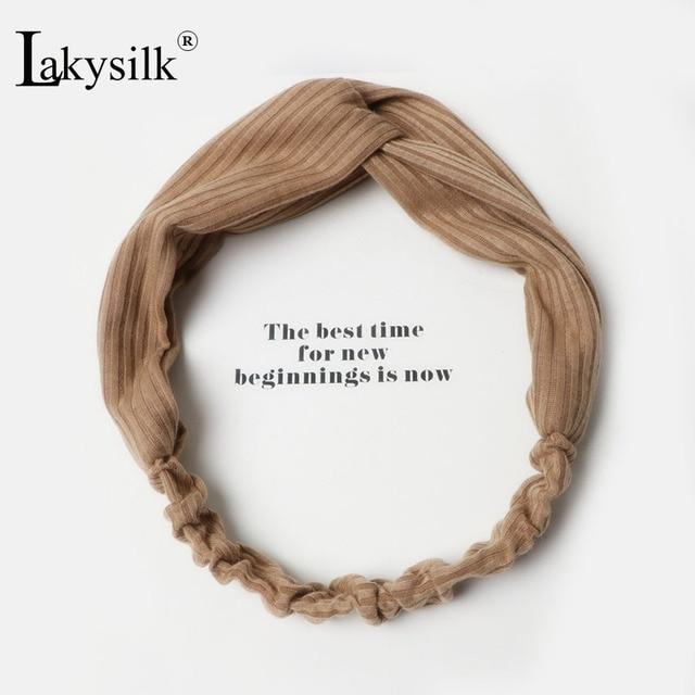 Fashion Solid Headband Women Turban Elastic Hairbands Head Wrap Girls  Lovely Hair Accessories Sports Hair Ties 0f85d878299