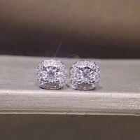 ANI 18 К из белого золота (AU750) для женщин Stud Earrings 0,24 CT Certified я/SI природных алмазов серьги oorbellen Обручение Fine Jewelry