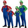 Men Super Mario Costume With Hat And Beard Luigi Brothers Plumber Costumes Super Mario Costumes For