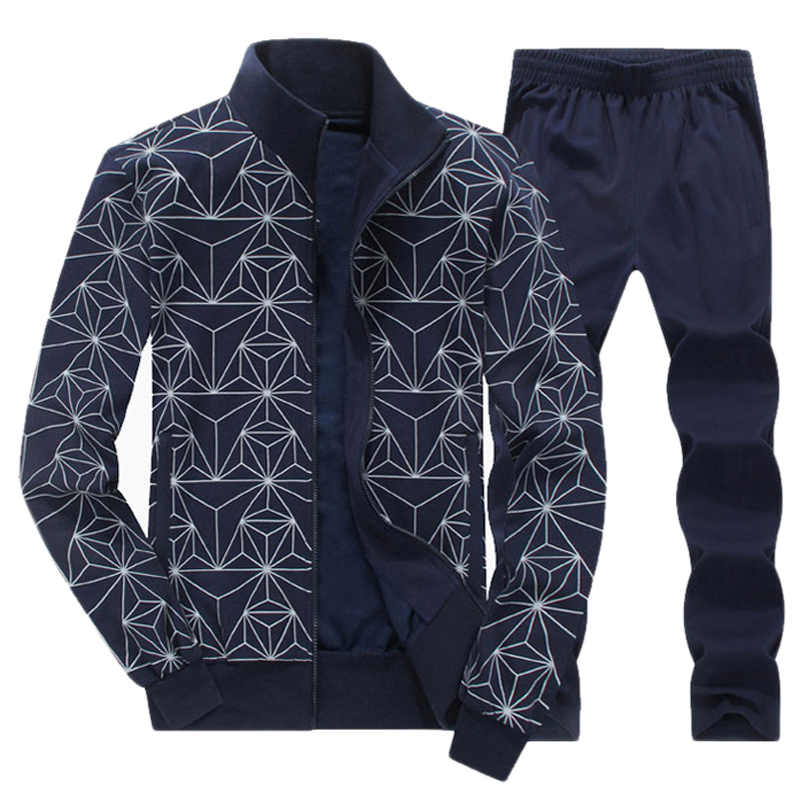 Men's Winter Large Size L-8XL Sports Suit Keep Warm Running Suit Printing Running Jogging Sets Sport Gym Clothes Sport Suit Men men sport suit autumn winter big size 6xl 7xl 8xl warm knitted tracksuits printing design male fitness jogging running sets
