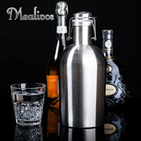 64oz Stainless Steel Beer Growler Swing Top Hip Flask Ultimate Beer Bottle For Bar Accessories 1