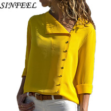 SINFEEL 2018 Women Shirt Blusas Femininas Tops Button Long Sleeve Elegant Ladies Formal Work Wear Blouse Shirt clothing Camisas