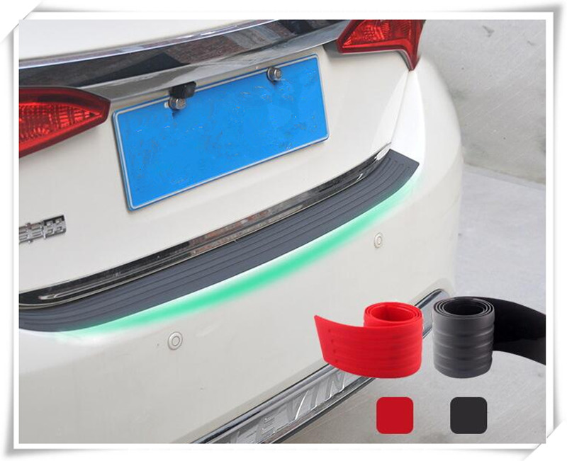 Car styling car strips Car rear bumper protection for Jeep Cherokee 2014 2015 2016 Toyota sticker Accessories car rear bumper protective decorative strips sticker for toyota corolla rav4 yaris prius hilux avensis accessories car styling