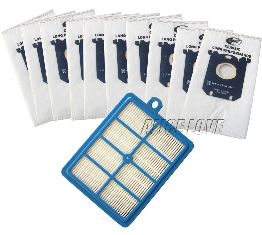 11pcs/set Free Shipping 1 Replacement hepa filter 10pcs Dust Bags for Electrolux Vacuum Cleaner filter electrolux hepa and S-BAG 10pcs washable vacuum cleaner bags dust bag replacement for philips fc8134 fc8613 fc8614 fc8220 fc8222 fc8224 fc8200 free post