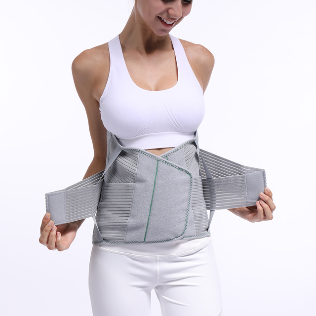 Lumbar Back Spinal Spine Waist Brace Support Belt Corset Stabilizer Cincher Tummy Trimmer Trainer Weight Loss Slimming Belt 1