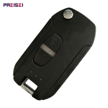 10pieces/lot Plastic Black 2 Buttons Car Modified Flip Remote Key Case Fobs Replacements For Mitsubishi