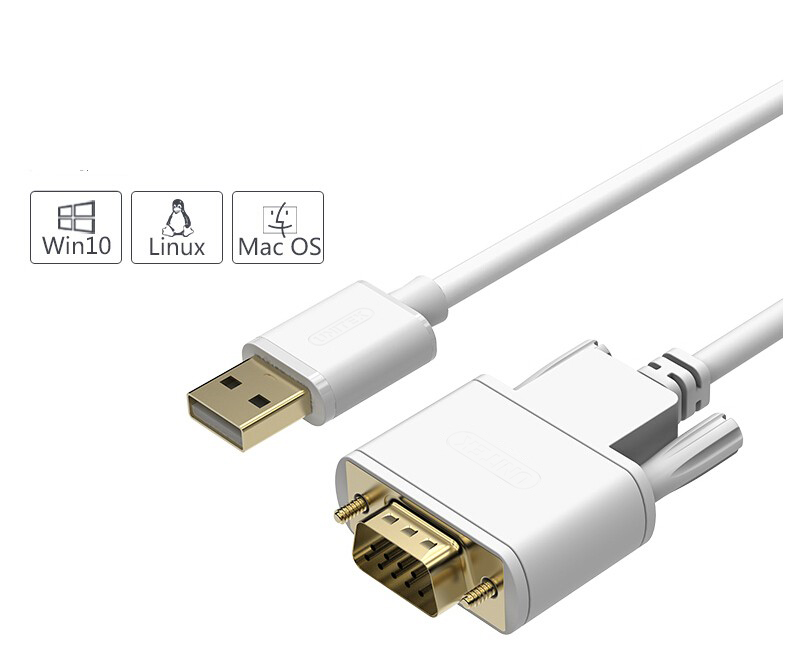 High quality USB 2.0 to RS232 com Serial DB9 Converter Cable For Win10 WIN8 INDUSTRY