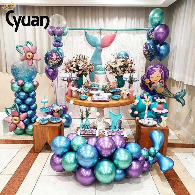 Mermaid Party Decorations Mermaid Balloon Banner Weeding Baby Birthday Party Decorations Baby Shower Balloon Arch Stand Holder