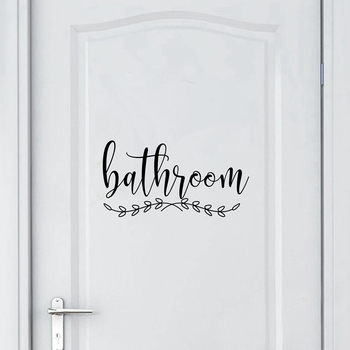 Bathroom Sign Decal Home Toilet Door Art Wall Decor , Laundry Door Sign Vinyl Sticker Farmhouse Style Mural Decals Home Decor 7