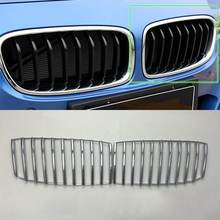 Car Accessories Exterior Decoration ABS Chrome Front Grille Decorative Frame Cover Trim For BMW 3 Series 2017 Car Styling yaquicka chrome abs car front middle grille grill frame cover trim styling for subaru xv 2018 car covers mouldings accessories