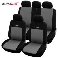 Alta Calidad Fundas de Asiento de Coche Universal Fit Poliéster 3 MM Compuesto de Esponja accesorios Car Styling lada coche cubre la cubierta de asiento