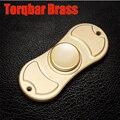 Tri-Spinner Fidget Brinquedo Metal EDC profissional Mão Dedo gyro Spinner Torqbar Latão Brinquedos Para O Autismo e TDAH