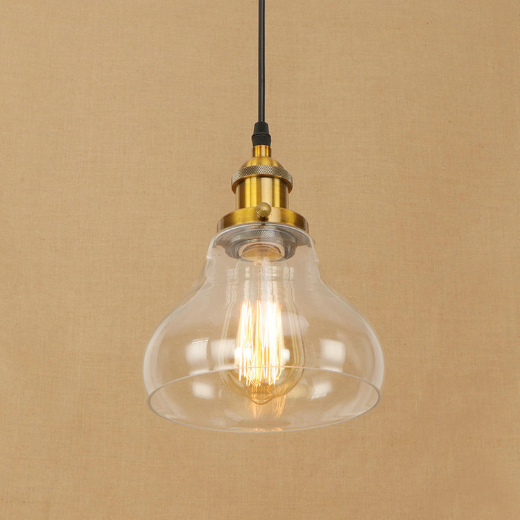 IWHD Glass Lamparas Vintage Hanging Lamp Loft Industrial Pendant Light Led Restaurant Kitchen Iluminacion Home Lighting Fixtures new loft vintage iron pendant light industrial lighting glass guard design bar cafe restaurant cage pendant lamp hanging lights