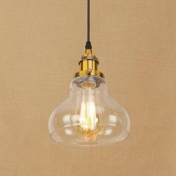 IWHD lámparas de cristal lámpara colgante vintage Loft lámpara colgante industrial Led...