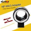 Abertura da câmera anel adaptador w/tripé de montagem para nikon f af-s AI G Lens para Micro 4/3 M4/3 Câmera Olympus Panosonic BMPCC E-M5