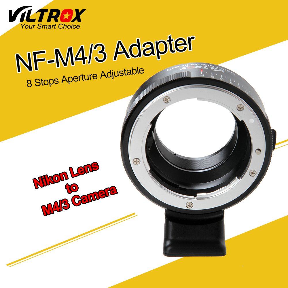 Camera Aperture Ring Adapter w/ Tripod Mount for Nikon F AF-S AI G Lens to Micro 4/3 M4/3 Camera Olympus Panosonic BMPCC E-M5 auto focus olympus micro 4 3 lens to 4 3 camera lens adapter black