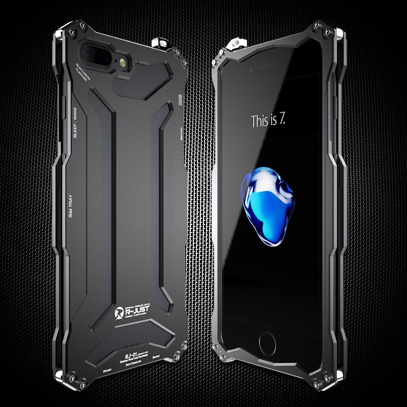 Brand R JUST Dirt Shock Rain Waterproof Metal Protective Case For iPhone 7 7Plus Aluminum