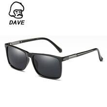 DAVE Square Polarized Sunglasses Men Brand Designer Aluminum Magnesium Alloy  Sun Glasses For Male Driving Eyewear Oculos UV400