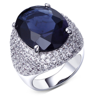 Rings For Women White Gold Plated Oval Blue Green Ring Fashion Jewelry Free Shipment Full Ring