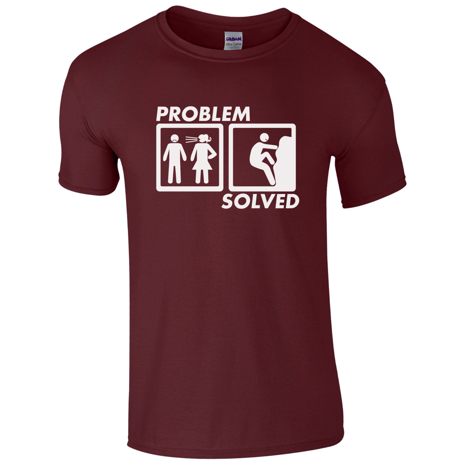 Problem Solved ROCK CLIMBINGS Funny T-Shirt High Quality Printed T Shirt Top Cotton Short Sleeve Tshirt Camisa Masculina