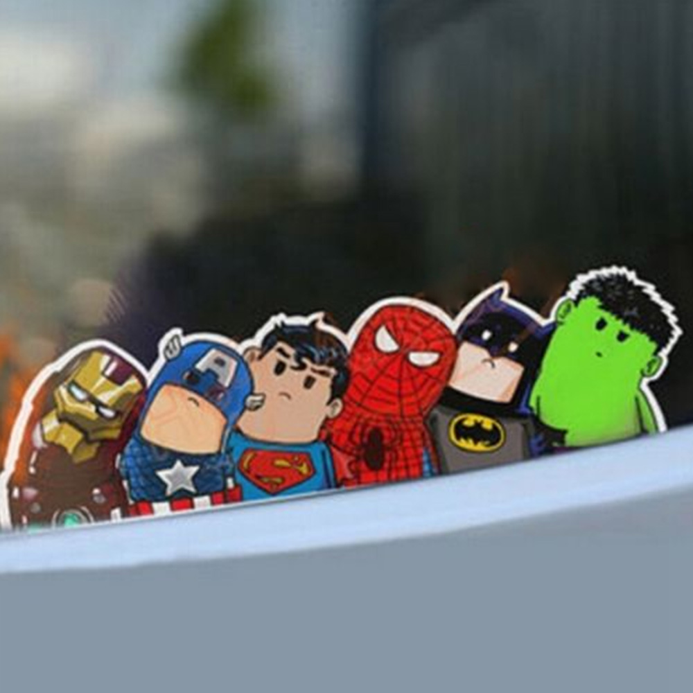 New Arrival The Avengers Wry Neck Car Sticker Cartoon Reflective Car Styling Sticker Motorcycle Car Decal Accessories SEKINNEW