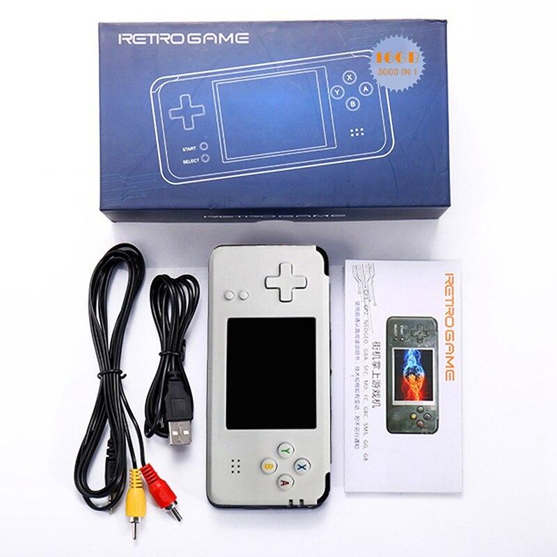 Console de jeu Portable vidéo Portable 16 GB jeu vidéo rétro lecteur de jeu Portable intégré 3000 jeux
