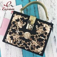 Lock retro hueco tallado de diamantes de lujo de alta calidad de diseño de moda mini flap bolso de las mujeres bolsa de mensajero del bolso de hombro caja bolsa