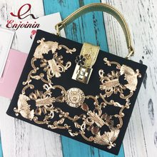 Luxury high quality diamond carved hollow lock retro fashion design mini flap women's handbag shoulder bag messenger bag box bag